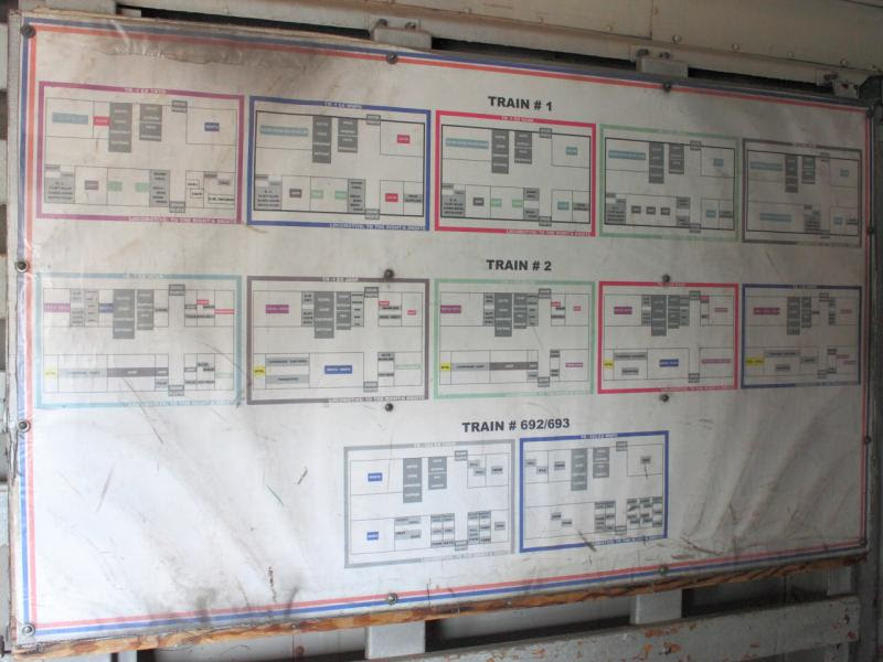 Baggage car chart in Winnipeg 2011/10/14