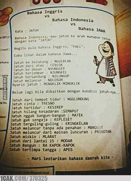 tentang bahasa indonesia  berbagai bahasa daerah
