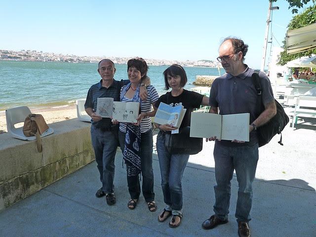 Cuadernistas disfrutando en Lisboa