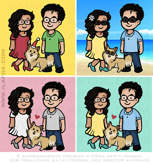 caricatura fofinha, caricatura fofinha, caricatura para perfil, caricatura divertida, caricatura temática, ila fox