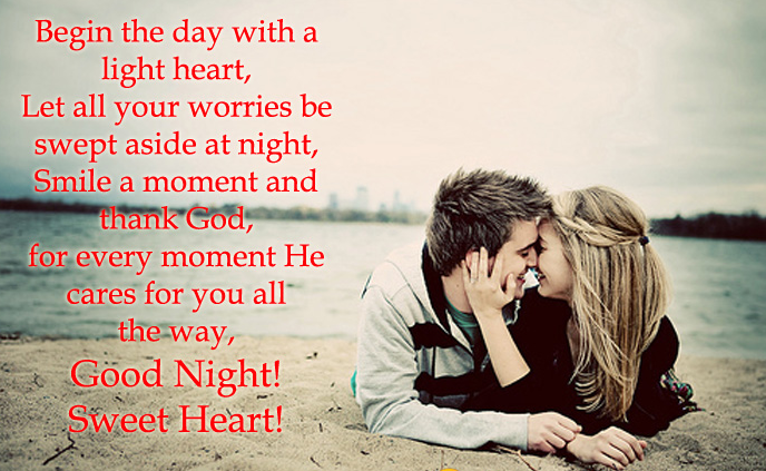 Good Night Messages For Sweetheart Sweet Good Night Love Messages