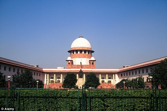 The Supreme Court building in New Delhi.Meenakshi Kumari has filed a petition with the court asking for protection from the ruling of the village council