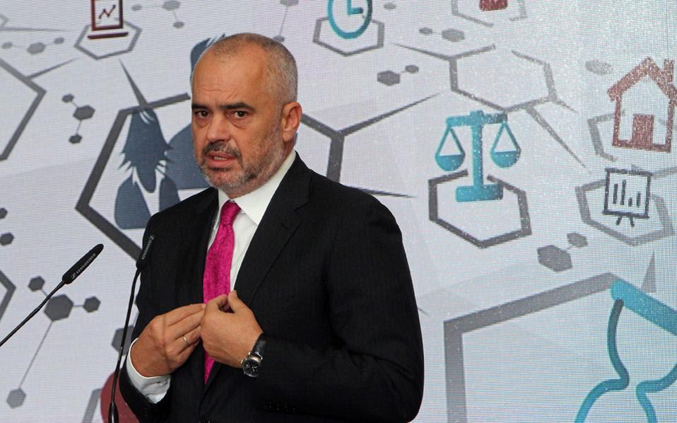 Ο Σαλί Μπερίσα κατηγόρησε τον πρωθυπουργό Εντι Ράμα (φωτ.) ότι μπλόκαρε τη συμφωνία ενεργώντας για λογαριασμό της Τουρκίας.