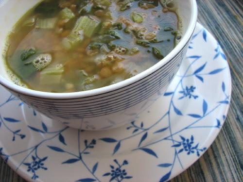 Syrian Lentil Chard Soup