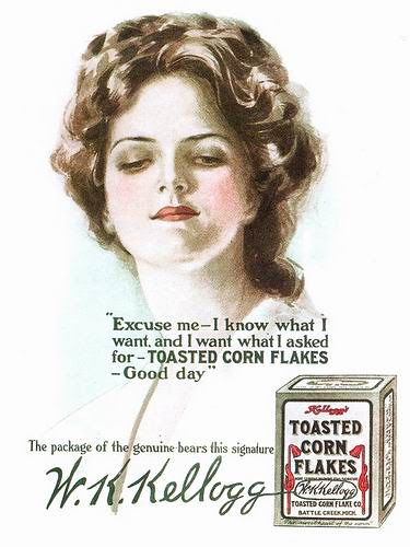Kellogg Toasted Corn Flakes ad, 1908