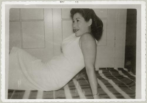 White Dress pose