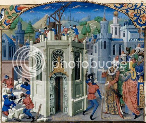 Reconstrução do templo de Jerusalém de Guillaume de Tyr