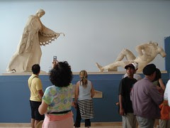 Di dalam muzium di Acropolis, Athens, Greece