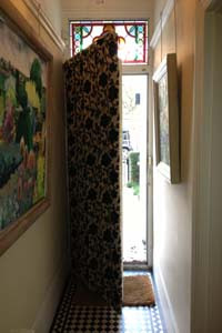 Portiere Rods And Interlined Door Curtains