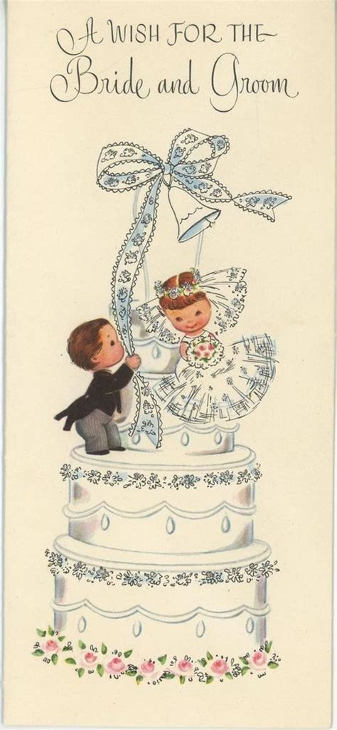 VINTAGE CUTE BRIDE & GROOM WEDDING CHILDREN ON WEDDING