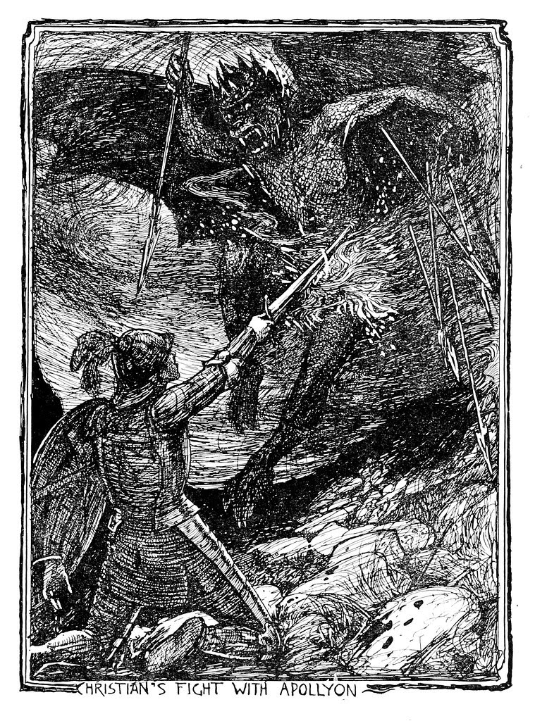 Henry Justice Ford - The pilgrim's progress by John Bunyan ; an edition for children arranged by Jean Marian Matthew, 1922 (illustration 1)
