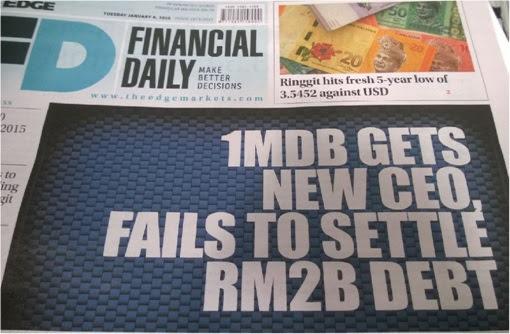 TheEdge - 1MDB Fails to Settle RM2 Billion Debt