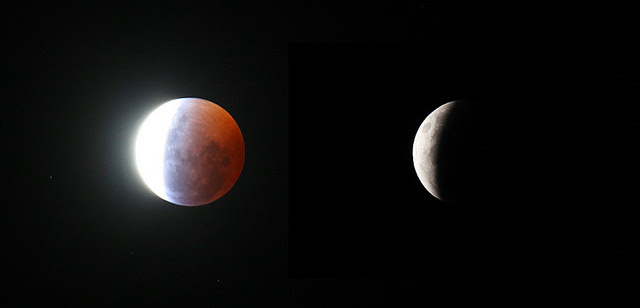 The eclipse as seen from Coral Towers Observatory. Image credit and copyright: Joseph Brimacombe