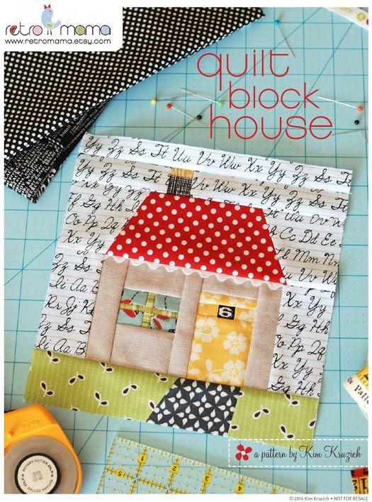house quilt block | Retro Mama