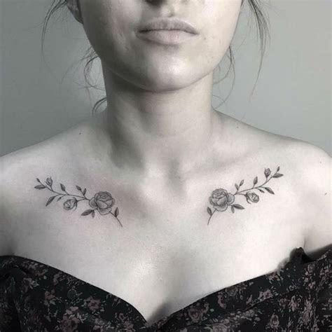 beautiful chest tattoos women architecture