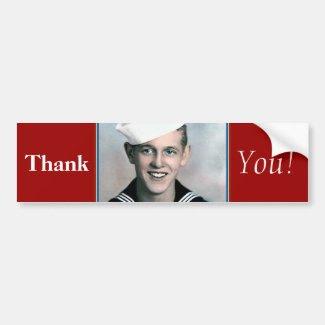 Thank You! - Veteran Bumper Sticker
