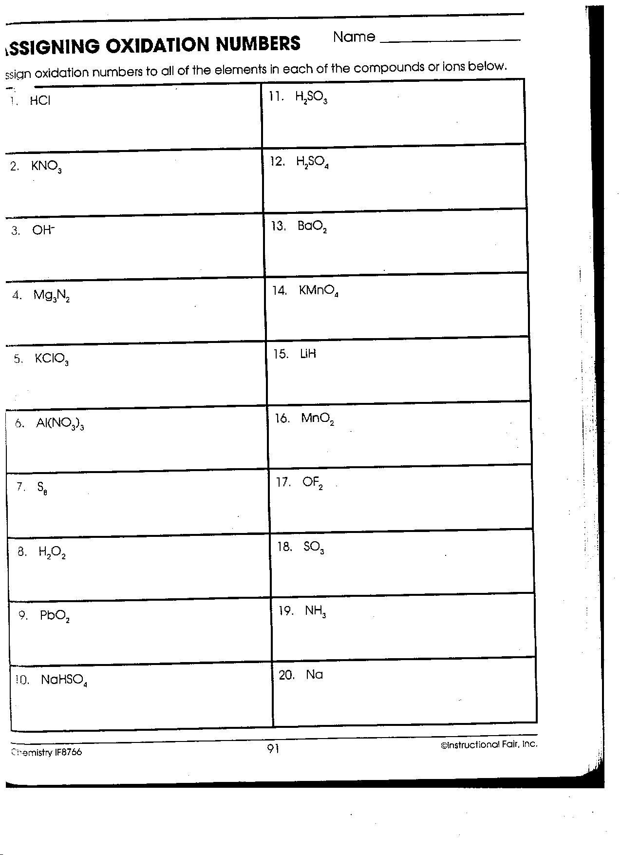 29 Oxidation Numbers Worksheet Answers Free Worksheet Spreadsheet [ 1755 x 1275 Pixel ]