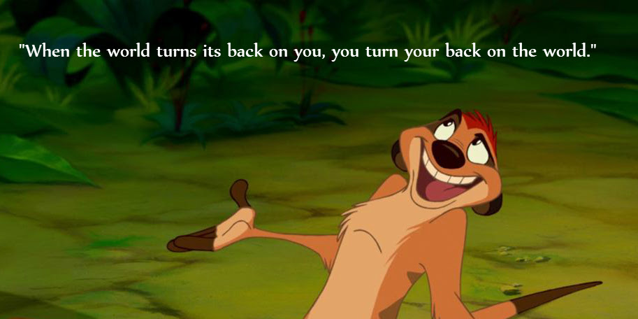 When The World Turns Timon The Lion King 816 X 408