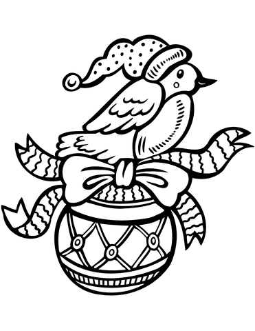 910 Free Coloring Pages Christmas Bird  Images