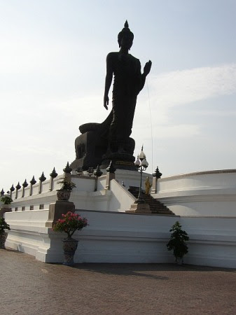 A buddha statue located at the Royal Grand Palace