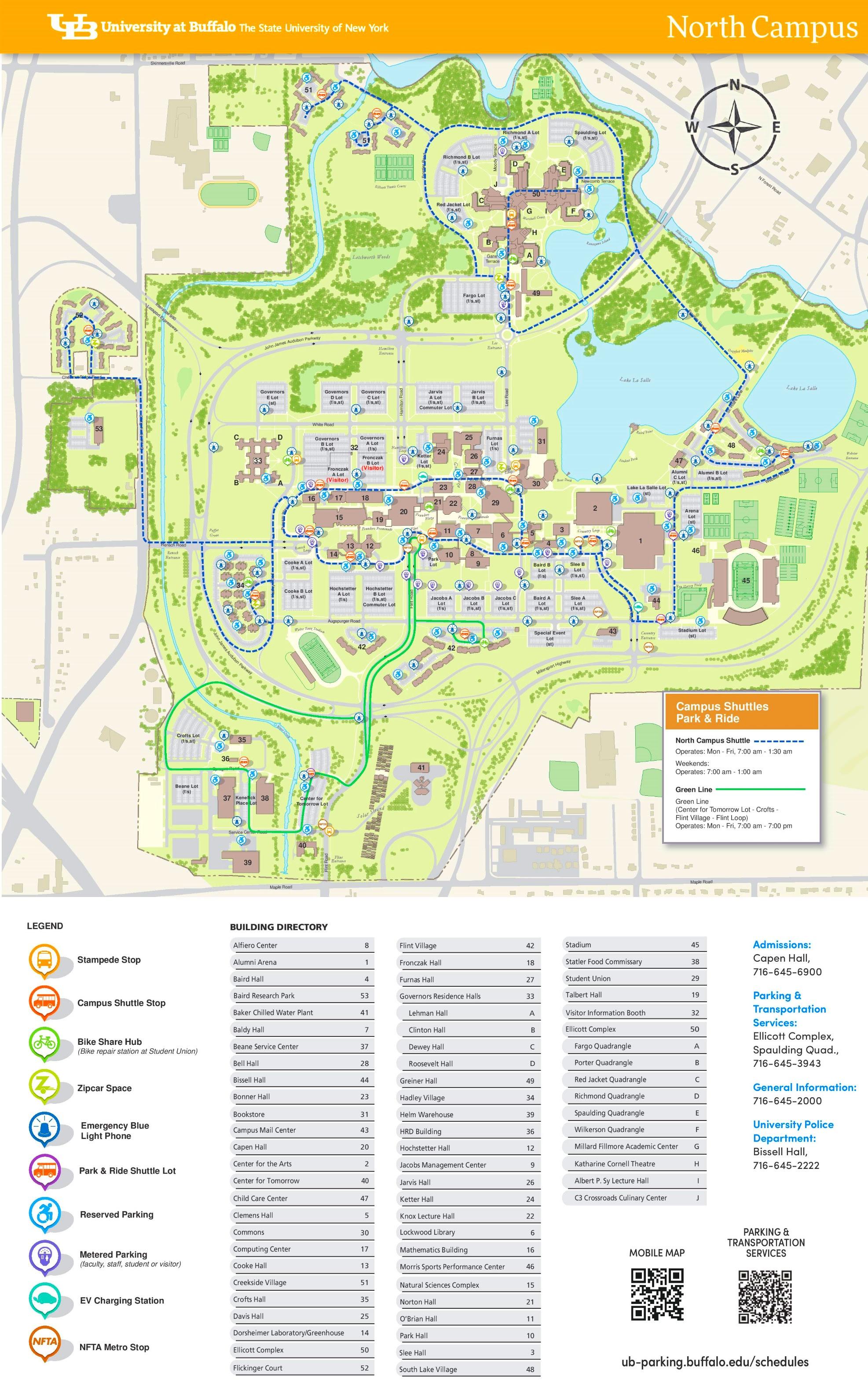 Ub Campus Map Ub North Campus Map | States Maps