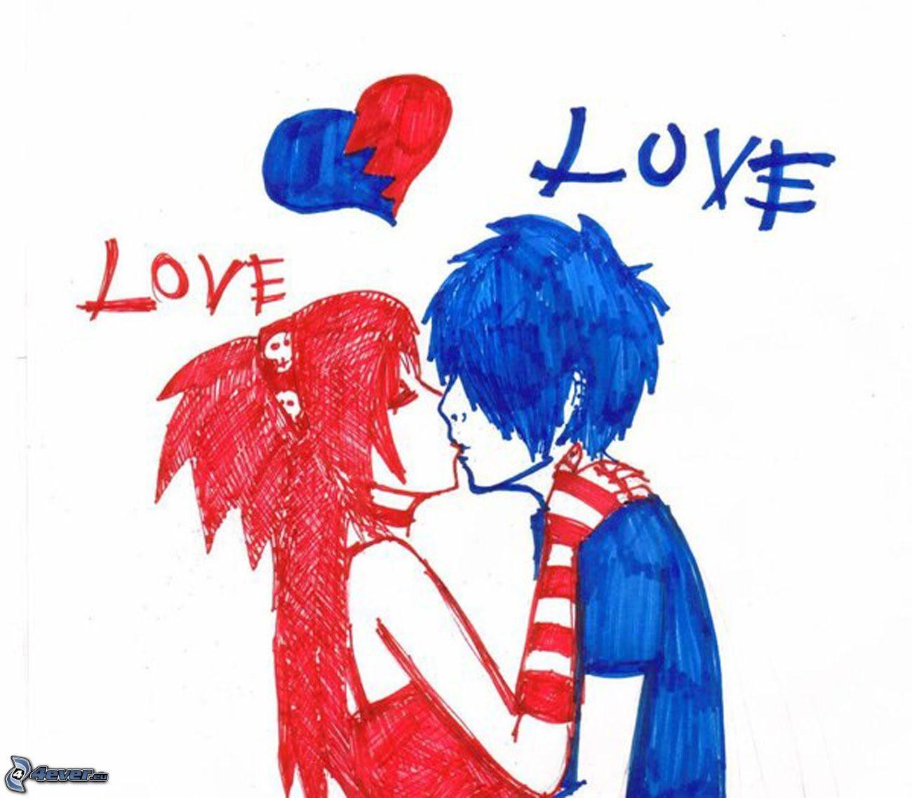 Imagenes De Amor De Parejas En Dibujos Animados
