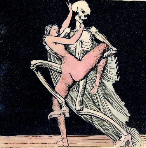 dappledwithshadow:  Dance with DeathErnst Fuchs (Austrian, b.1935)