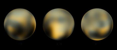 Plutón visto por el Hubble (NASA)