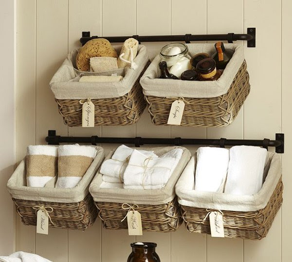 Pottery Barn Hanging Wall Baskets