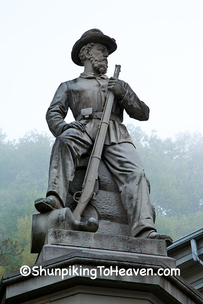 Statue of Civil War General, Pomeroy, Ohio