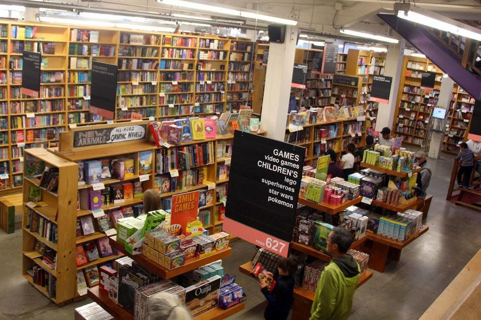 Get lost in the stacks at this gigantic bookshop