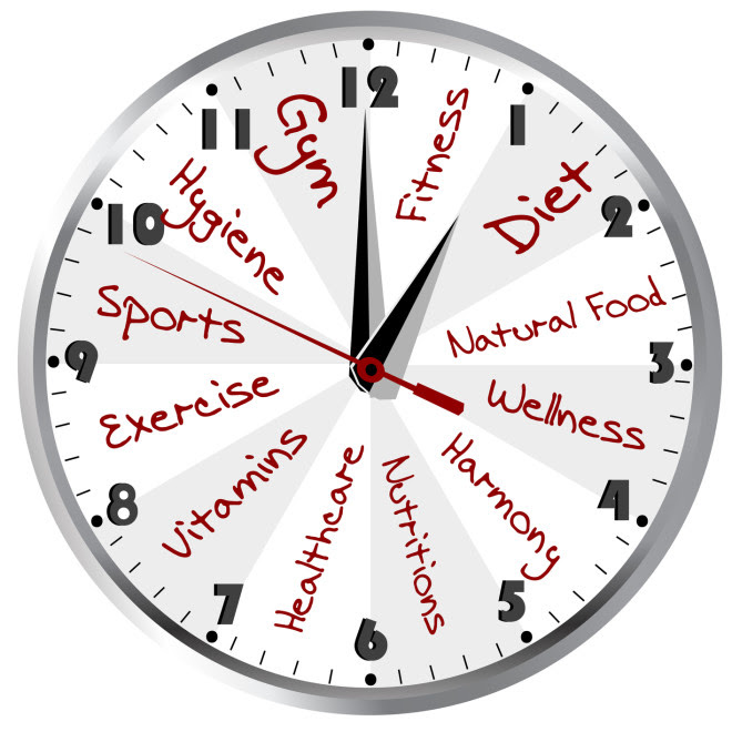 Daily Schedule Clock | Daily Agenda Calendar