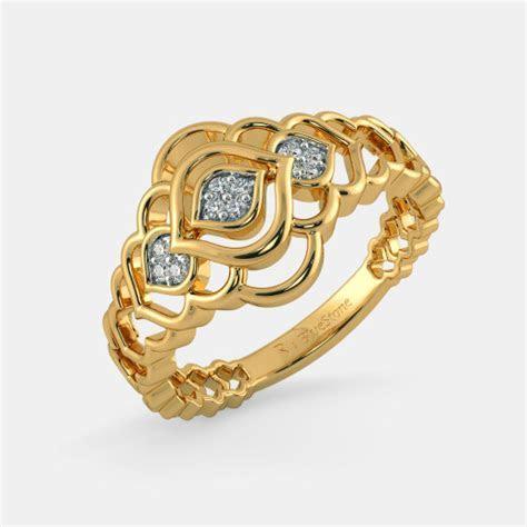 Buy 950  Women's Gold Ring Designs Online in India 2018
