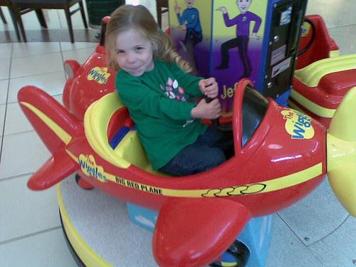 Amelia on the Big Red Plane