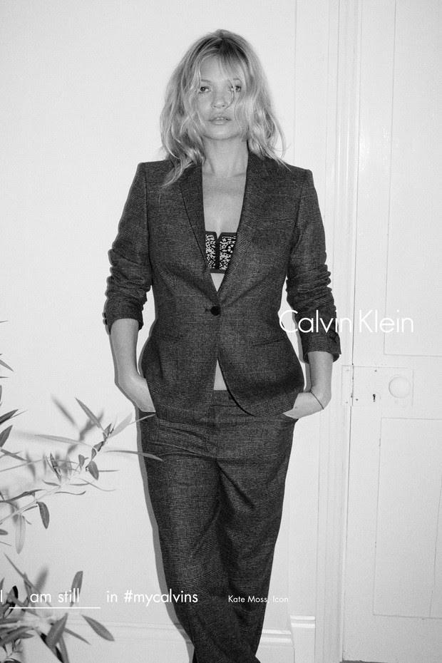 Kate Moss para Calvin Klein (Foto: Divulgação)