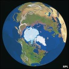Satellite composite view of South Pole (SPL)