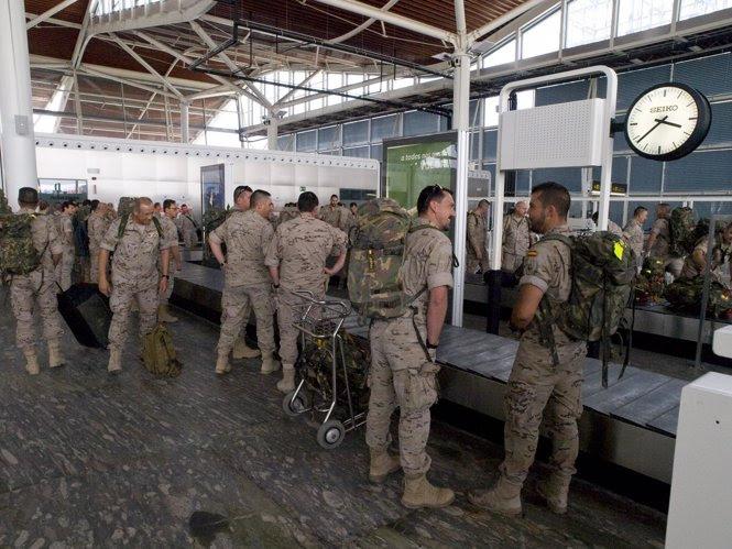 Militares regresan de Afganistán, tras más de seis meses de misión internacional
