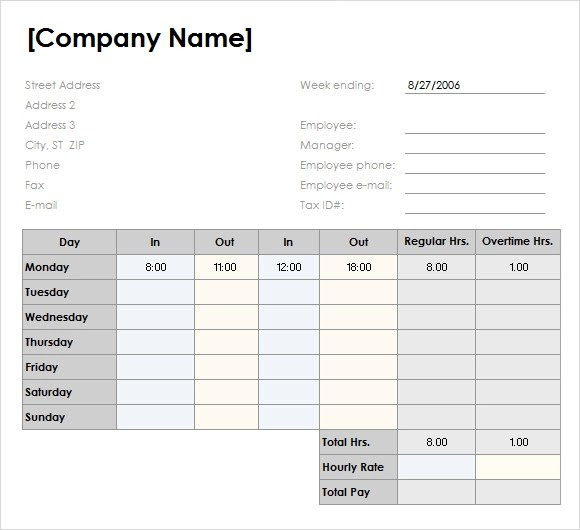 Cv Template Excel Free Download