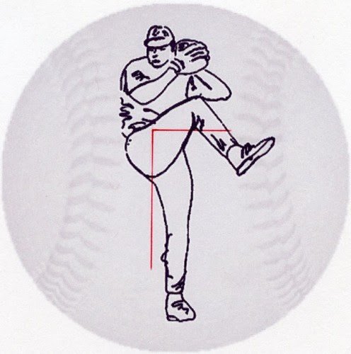 Illustration from the baseball pitching instruction book, DELIVERY.