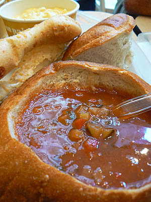 gaspacho in a bread bowl.jpg
