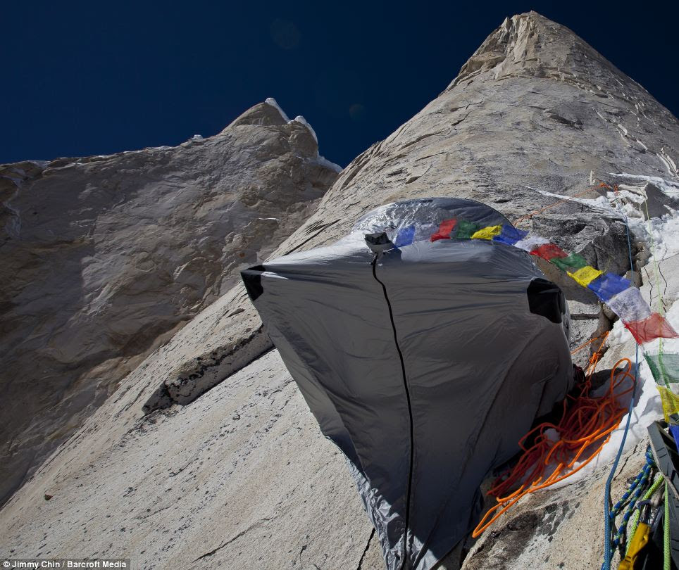 High camp on the Shark's Fin
