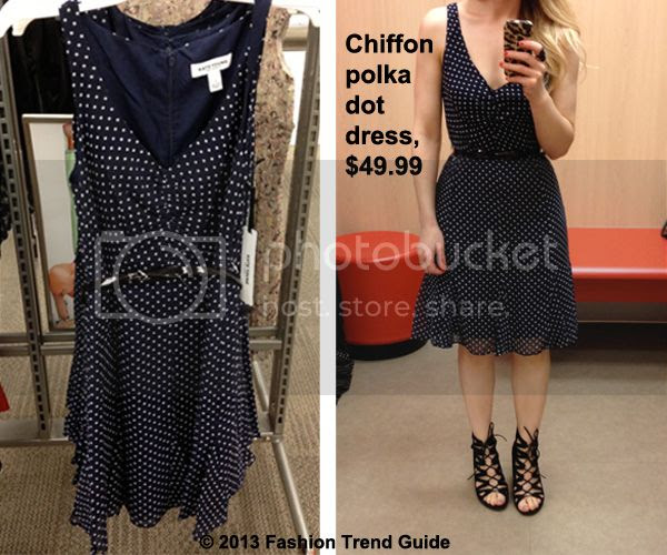 Kate Young for Target navy chiffon polka dot dress