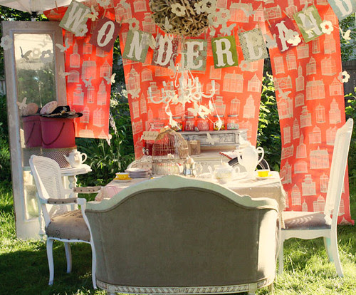 Wonderland Party Shabby Chic Tablescape