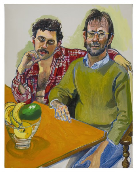 Geoffrey Hendricks and Brian, 1978 Oil on canvas 44 x 34 inches (111.8 x 86.4 cm) Courtesy of David Zwirner Gallery ©)