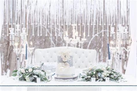Luxurious White and Blue Winter Wonderland Wedding