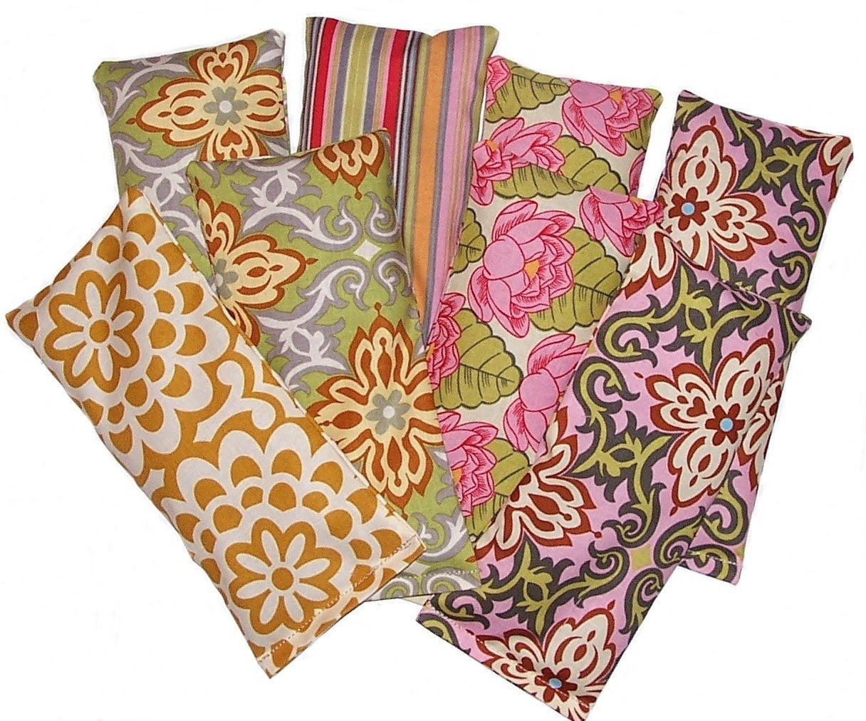 8 Eye Pillows Wholesale with Amy Butler Fabric