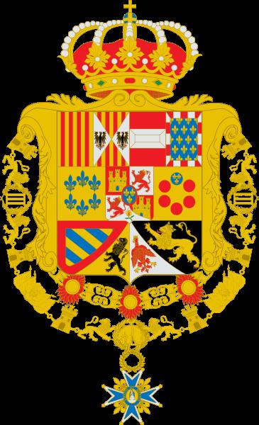 Archivo:Escudo de Carlos III de España Toisón y su Orden variante leones de gules.svg