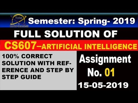 CS607 Assignment No 1 Solution Spring 2019 with Step by Step Guide and References