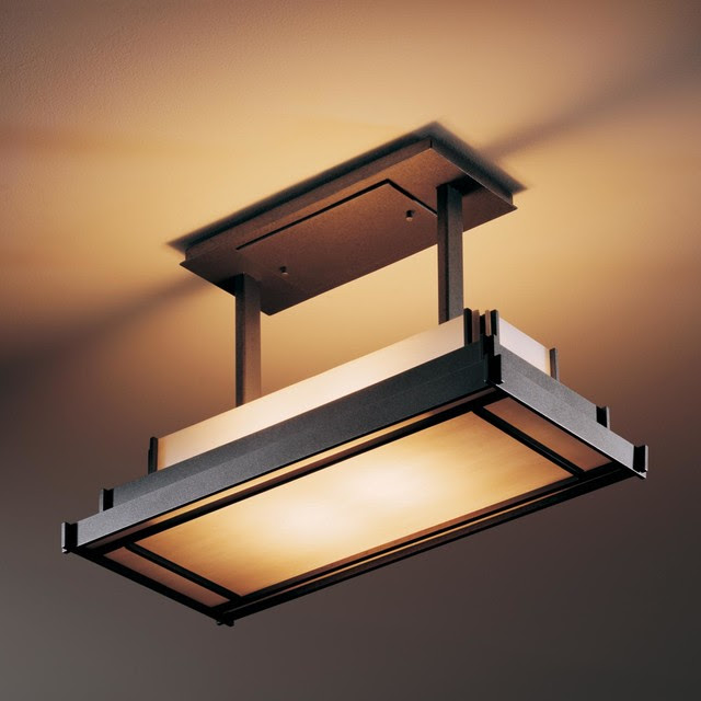 Steppe Rectangle Drop Semi Flush Ceiling Mount  Modern  Flushmount Ceiling Lighting  by