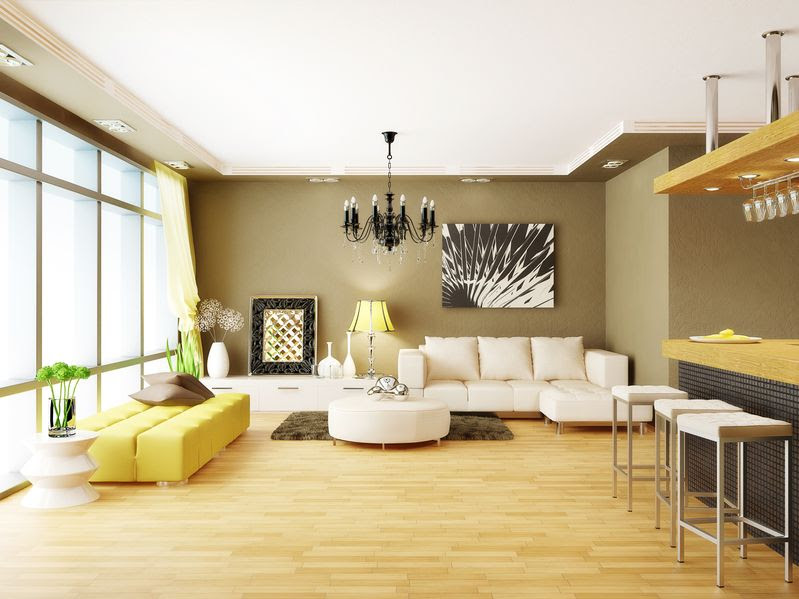 Cool Home Decor With Lights And Wooden Flooring